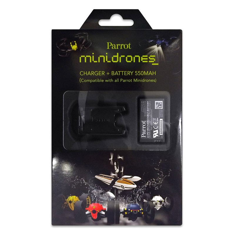 Minidrones charger + battery 550mAh