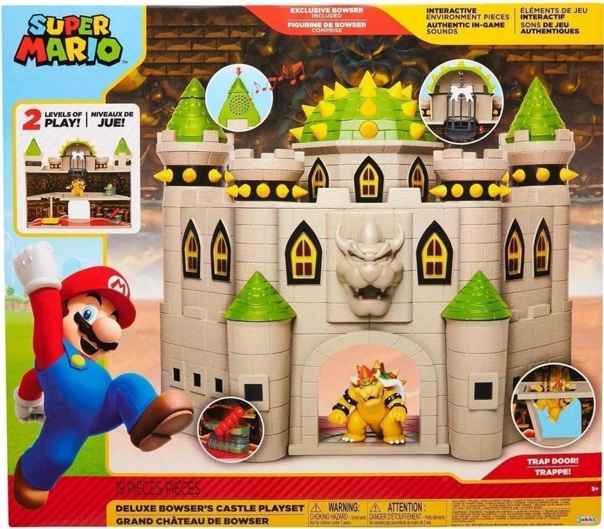 Super Mario Deluxe Bowser's Castle Playset